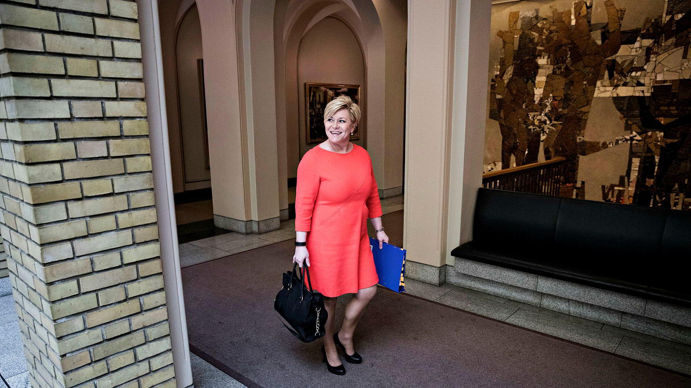 Finansminister Siv Jensen.