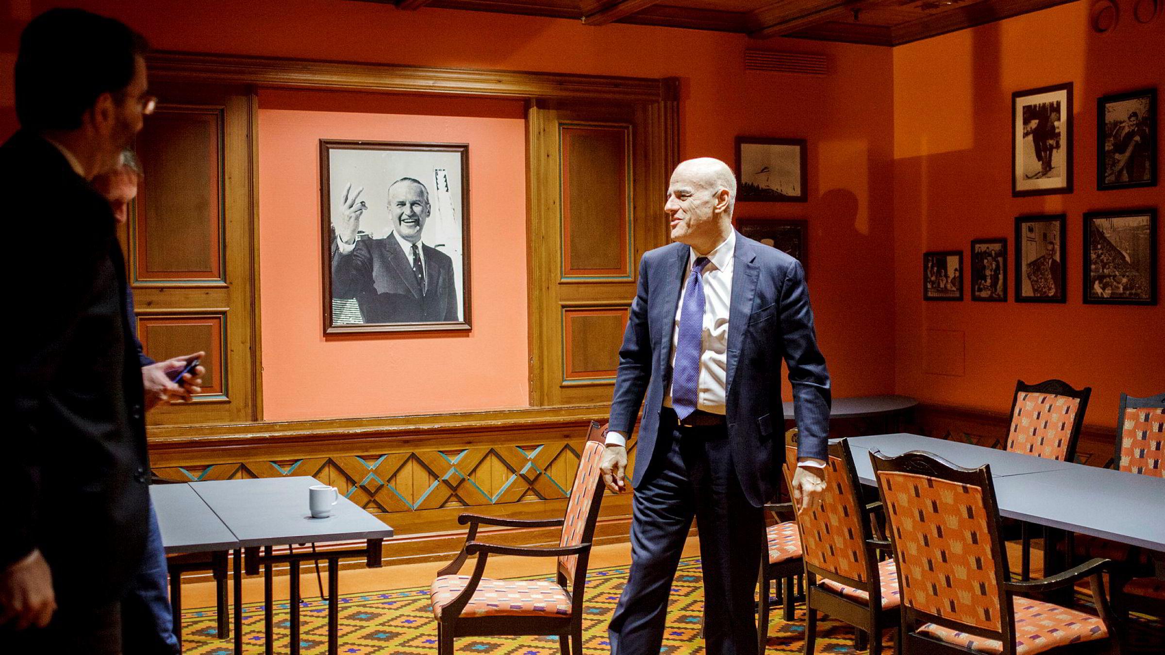 Eni-sjef Claudio Descalzi sier han er stolt over Goliat-prosjektet, alle oppstartsproblemene til tross. Sist uke besøkte han Oslo Energy Forum på Holmenkollen Park Hotel.