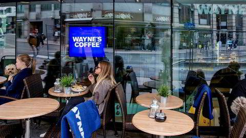 Her fra Wayne's Coffee i Grensen, Oslo.
