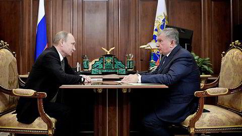 Onsdag kveld kunngjorde president Vladimir Putin og Rosneft-sjef Igor Setsjin den nye Rosneft-avtalen på russisk tv.