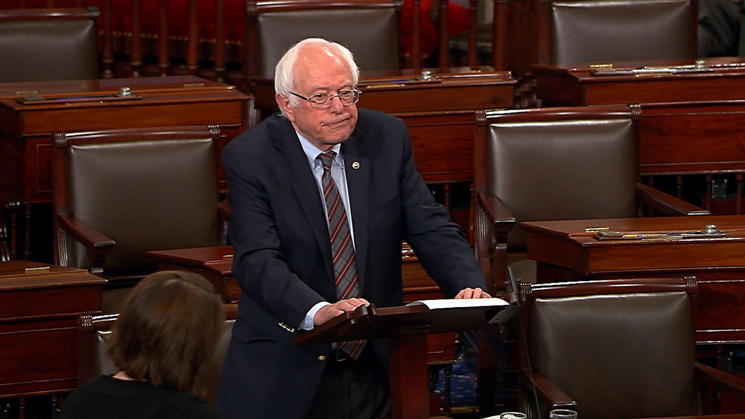 Senator Bernie Sanders går hardt ut mot den nye helseplanen som republikanerne skal ha jobbet med i hemmelighet.