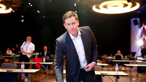 Daniel Skjeldam under pressekonferansen torsdag ettermiddag.