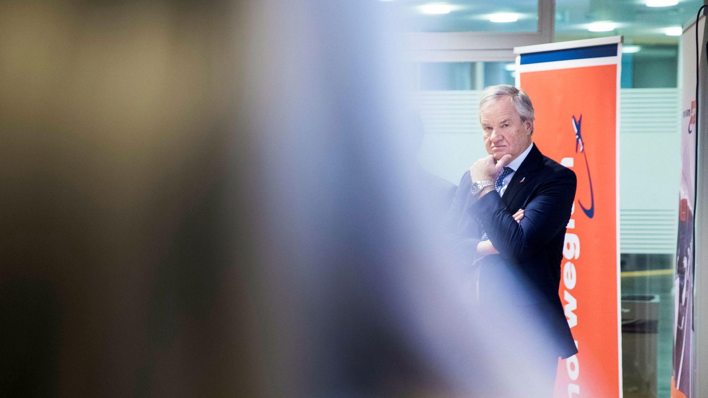 Norwegian-sjef Bjørn Kjos møter motgang etter et svakt første kvartal i 2018.