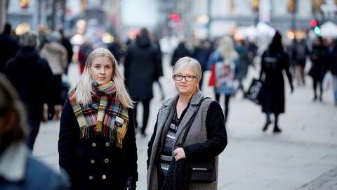 Sylvia Lind, leder i Elevorganisasjonen, og Rita Helgesen, leder i Norsk Lektorlag, har gått sammen med IKT Norge og forlagene til kamp mot offentlige Nasjonal digital læringsarena som lager digitale læremidler.