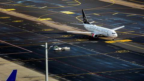 SAS legger frem et overskudd torsdag. Her fra Oslo lufthavn.