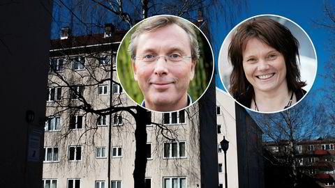BI-professor Dag Jørgen Hveem og professor Ellen Nyhus ved Universitetet i Agder anbefaler bankkunder å følge med på om man har bankens beste lånevilkår.