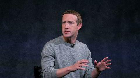 Facebook-sjef Mark Zuckerberg fotografert under et arrangement i New York forrige uke.