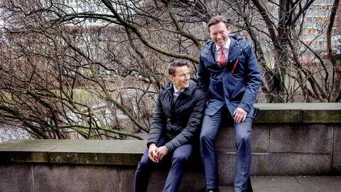 Geir Sviggum (til venstre) og Tormod Ludvik Nilsen i Wikborg Rein har begge bodd og jobbet i Kina de siste årene og er storfornøyd med at forholdet mellom Norge og Kina er normalisert.