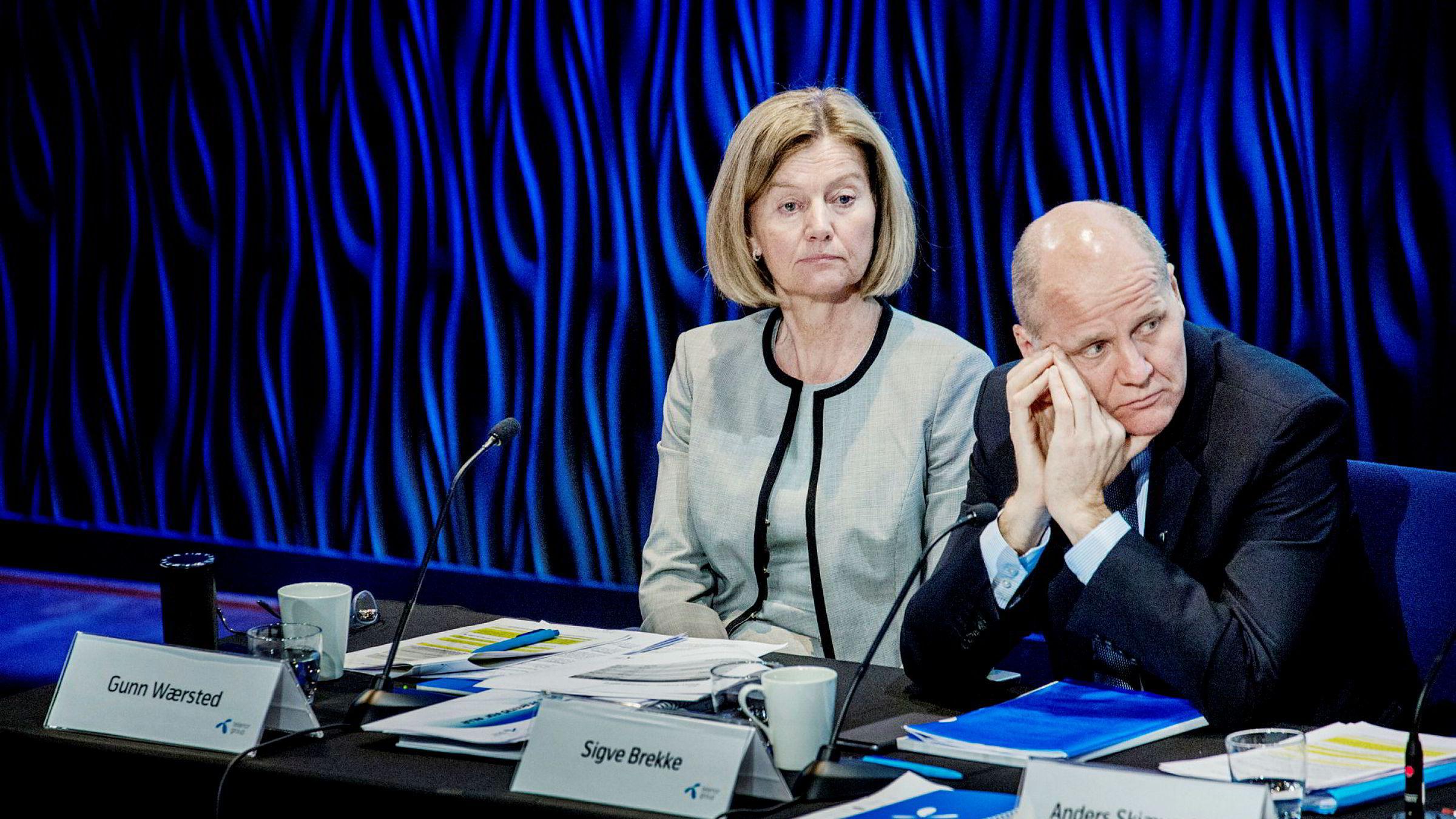 Styreleder Gunn Wærsted og styret i Telenor har diskutert en rekke forhold knyttet til konsernsjef Sigve Brekke denne høsten.