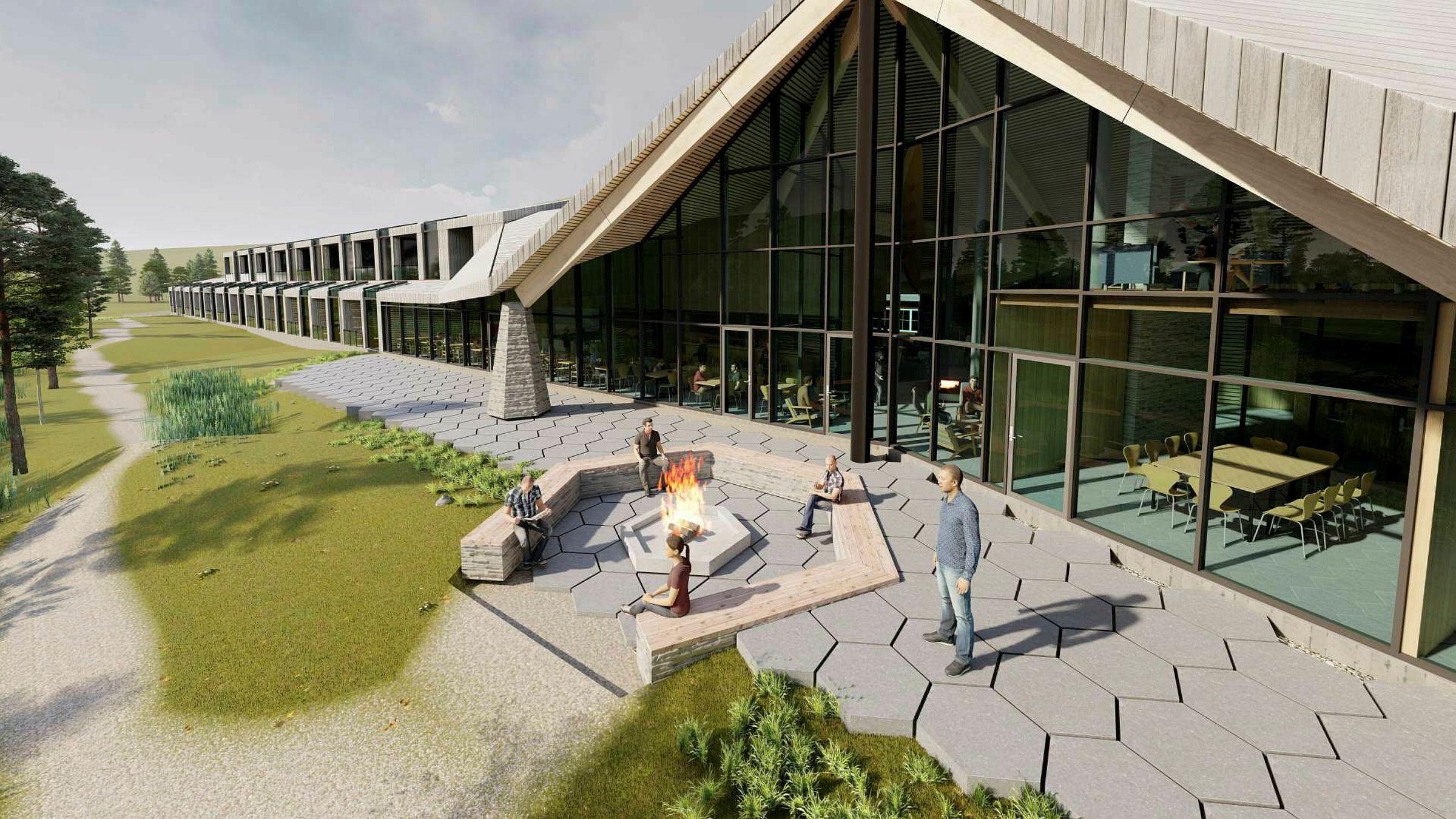 Wisløff-familien bygge en arktisk villmarkslodge med 24 suiter.