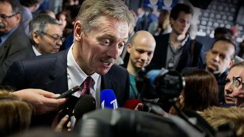 President Vladimir Putins talsmann, Dimitrij Peskov, mener FBI-sjefen bidro til ytterligere forvirring under Kongresshøringen mandag.