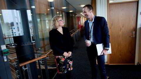 Petoro-sjef Grethe Moen og nyansatt økonomidirektør Jonny Mæland la onsdag frem et årsresultat med drøyt ti prosent oppgang i lønnskostnadene.