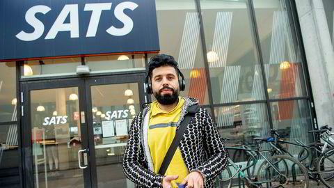 Gabriel Al Uokle (30) har nettopp trent på Sats på Bislett i Oslo. Han var ikke klar over at treningssenteret skulle stenges midlertidig.