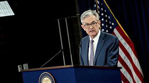 Sentralbanksjef Jerome Powell i amerikanske Federal Reserve senket renten på grunn av koronaviruset.