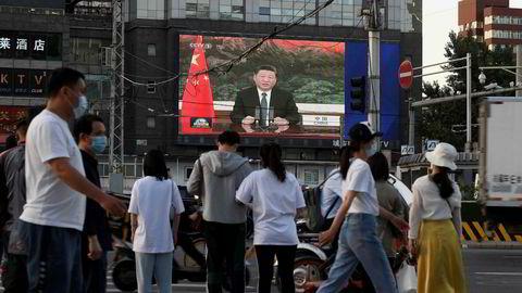 President Xi Jinping snakket 18. mai via videolink til Verdens helseorganisasjons forsamling. Kina vil at WHO skal lede en evaluering av koronaresponsen.