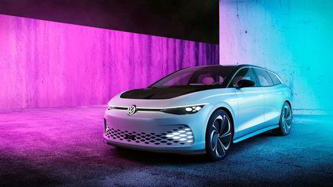 Volkswagen ID Space Vizzion viser hvordan Volkswagens første elektrisk stasjonsvogn blir seende ut.