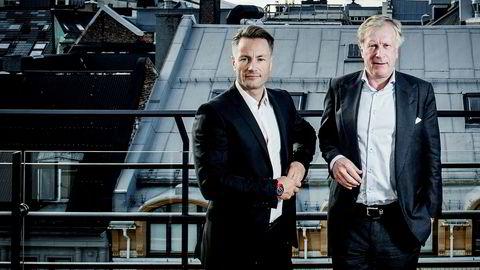 Investorene Runar Vatne (til venstre) og Carl Erik Krefting ble milliardærer på eiendom sammen. Så røk de uklar. Det nyeste søksmålet mellom de to er det Krefting som står for, gjennom deres felles selskap Søylen Eiendom. Her et arkivfoto fra 2015.