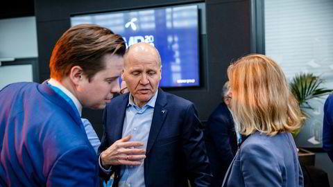 Sigve Brekke administrerende direktør i Telenor på Telenors kapitalmarkedsdag.