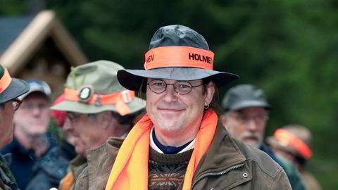 Sveriges tidligere finansminister Anders Borg på jakt i Malingsbo-Kloten i 2009. Jaktturen ble arrangert av hans venn Fredrik Lundberg i skogselskapet Holmen.
