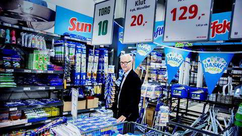 Administrerende direktør Pål Wibe i Europris var ikke fornøyd med resultatene kjeden leverte i fjerde kvartal.