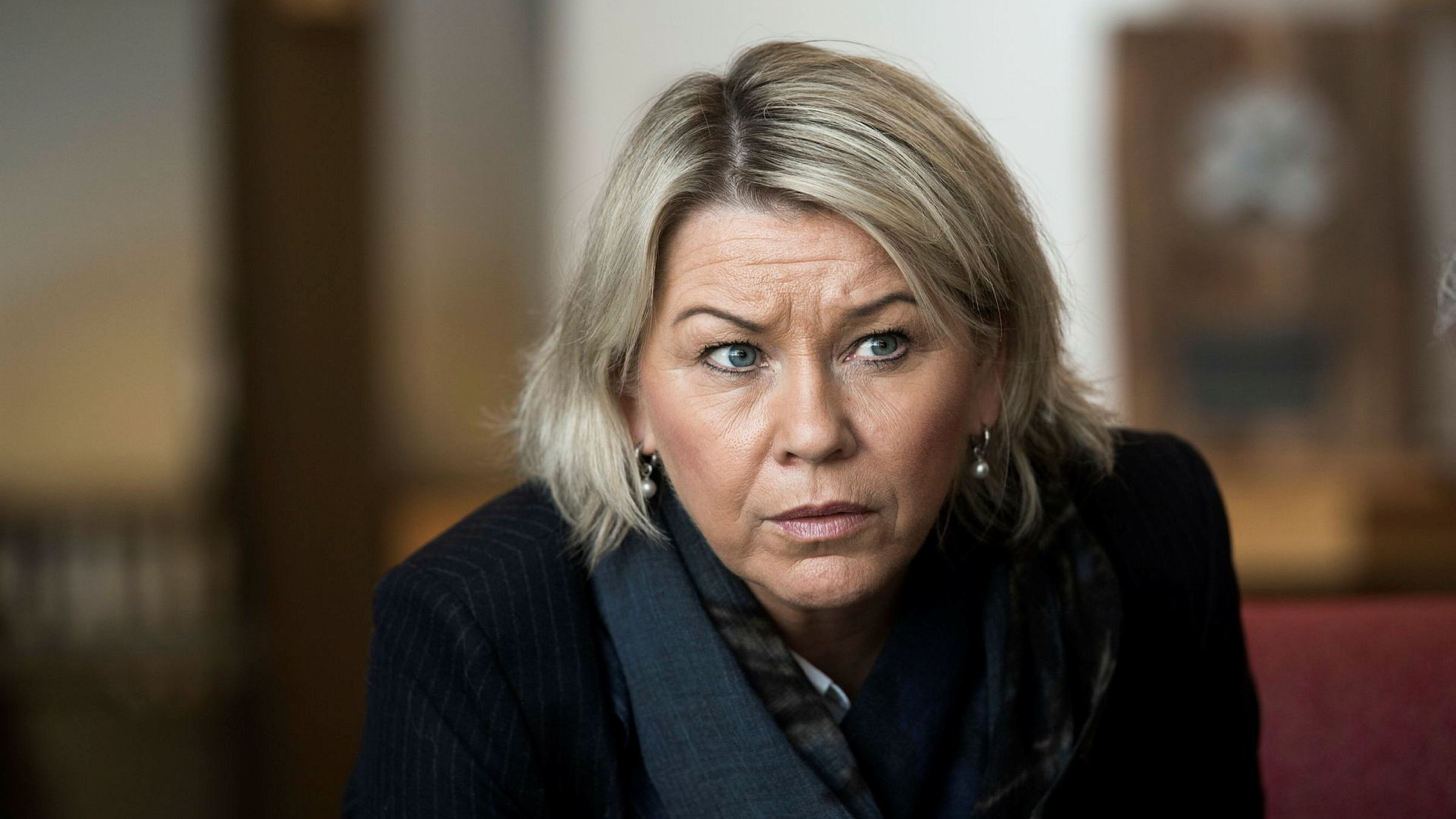 Næringsminister Monica Mæland er ansvarlig for saken.