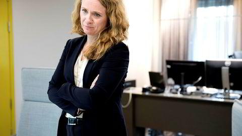 Arbeids- og sosialminister Anniken Hauglie (H) gleder seg over at antall registrerte arbeidsledige faller for åttende måned på rad.