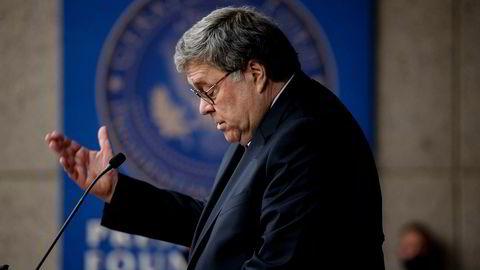 USAs justisminister William Barr kom med ramsalt kritikk mot teknologiselskaper og den amerikanske underholdningsindustrien under en tale ved Gerald R. Ford Presidential Museum and Library på torsdag.