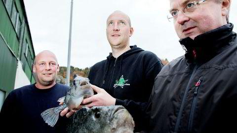 I 2016 vant Norsk Oppdrettsservice DNs gasellekåring. Siden har det gått til himmels for gründerne Andreas Lindhom (fra venstre), Rune Vatland og daglig leder Karl Tron Skarpenes.