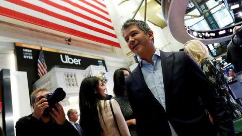 Ubers grunnlegger og tidligere toppsjef Travis Kalanick valgte å kvitte seg med nesten alt han eide av aksjer så snart det var lovlig. Han har innkassert over 22 milliarder kroner siden lockup-perioden utløp i november. Her fra børsnoteringen av Uber ved New York Stock Exchange den 10. mai 2019.