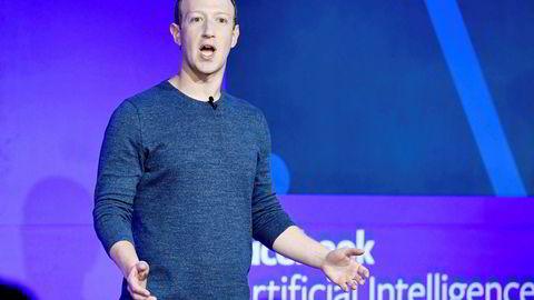 Mark Zuckerberg er sjef i Facebook.