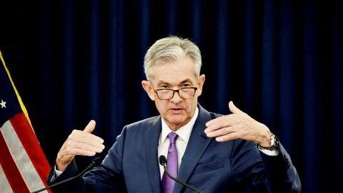Finansdepartementet og sentralbanken i USA eier nå til sammen 11 prosent av all selskapsgjeld i landet. Her Jerome Powell, leder av den amerikanske sentralbanken Federal Reserve.