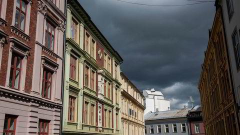 November er vanligvis en måned med slapp boligprisutvikling. (Arkivfoto, leiligheter i Oslo.)