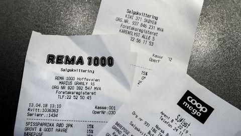 Skattedirektoratet vil likevel ikke tvinge butikker til å alltid skrive ut kvitteringen.