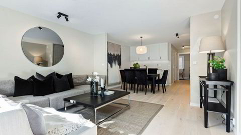 – Det er en bolig som ble kjøpt midt under koronatiden, og ble totalrenovert, sier Knut Morten Urrang Brekke.