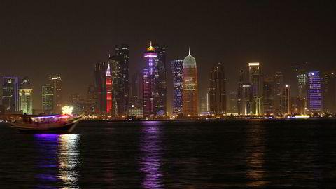 USA vil ha løsning i konflikten mellom Qatar og andre araberland. Bildet er fra kysten i hovedstaden Doha i Qatar.