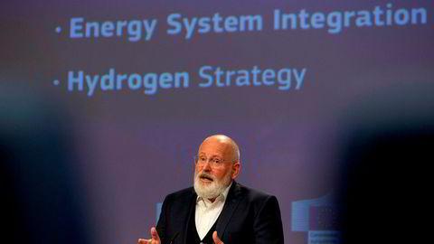 Europakommisjonens visepresident, ansvarlig for EUs nye «Green Deal», Frans Timmermans, presenterte EUs hydrogenstrategi 8. juli i år.