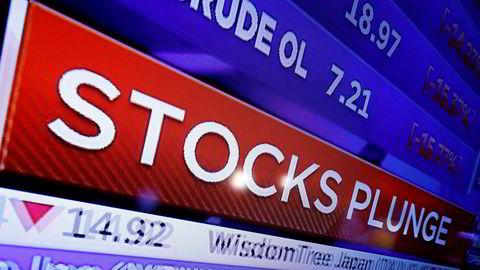 Alle piler peker nedover på Wall Street, der hovedindeksene Dow Jones, S&P 500 og Nasdaq alle stupte i løpet av mandagen.