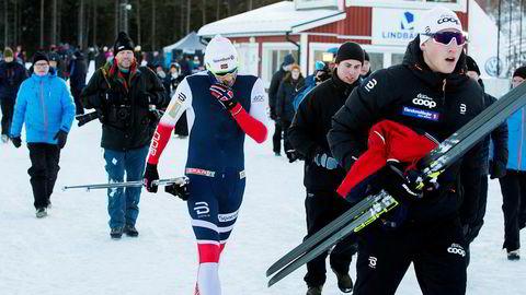 Da Petter Northug gikk skandinavisk cup i Sverige i år, var han fem minutter bak de beste løperne utenom landslaget på 30 kilometer fellesstart.