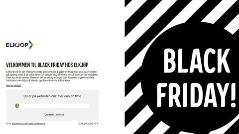 Kunder måtte stå i kø i nettbutikken til Elkjøp under Black Friday.