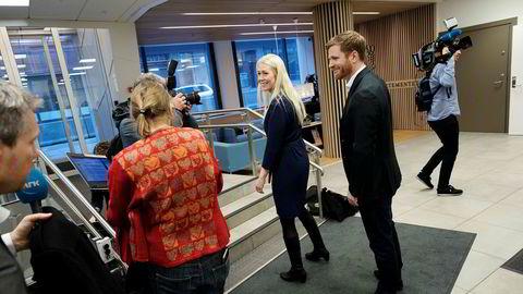 Kommunikasjonsdirektør Mette Fossum Beyer og direktør Lars Kristian Lindberg i Rema.
