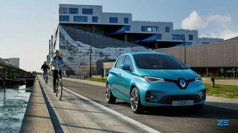 Renault taper mye penger. Bildet viser en Renault Zoe.