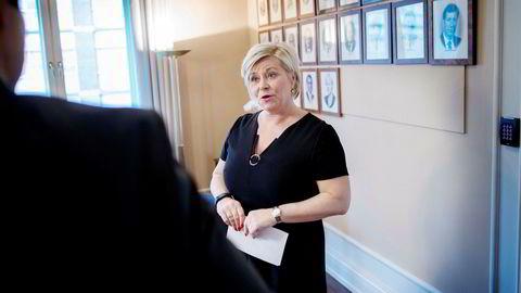 Siv Jensen fått flere ulike råd om hvordan Oljefondet bør forvaltes.