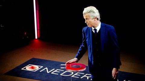 Geert Wilders er stolt, men erkjenner samtidig at partiet er langt unna målet etter onsdagens valg i Nederland.