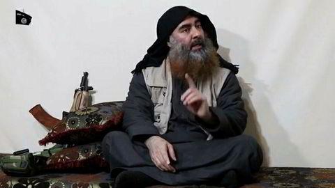 IS-lederen Abu Bakr al-Baghdadi kan være drept av amerikanske spesialstyrker i Syria. Her avbildet tidligere i år.
