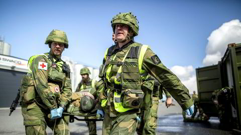 Øvelse Nordland 1 hos Sør-Hålogaland heimevernsdistrikt 14 i Mosjøen. Under øvelsen øvde soldatene på objektsikring. Sjøheimevernet var også med og løste oppdrag.