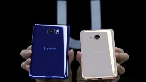 HTC U Ultra (t.v.) og U Play ble vist frem for første gang i Taipei 12. januar 2017.