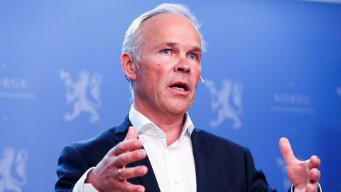 Statsråd Jan Tore Sanner la fram kommunereformen onsdag.