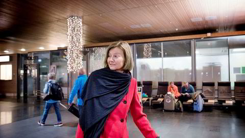 DN møtte styreleder Gunn Wærsted i Telenor da hun ankom Gardermoen fra Heathrow sent torsdag kveld.