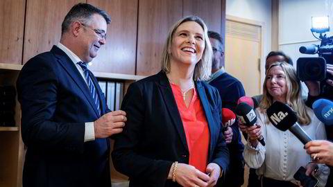 Sylvi Listhaug tok over som olje- og energiminister i desember. Tirsdag skal hun være med på åpningen av gigantfeltet Johan Sverdrup.