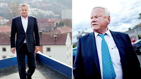 Axactors ekssjef Endre Rangnes (t.v.) går av med umiddelbar virkning. Han mener storaksjonær John Fredriksen står bak.